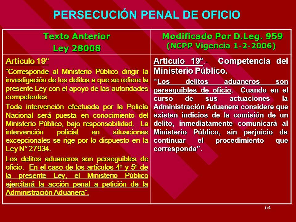 PERSECUCIÓN PENAL DE OFICIO