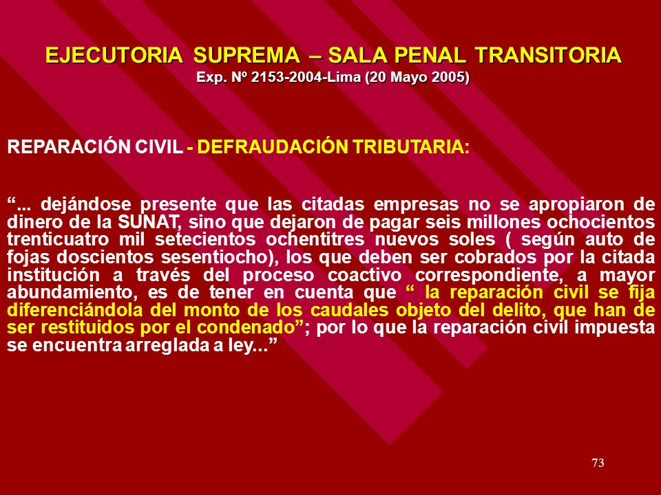 EJECUTORIA SUPREMA – SALA PENAL TRANSITORIA Exp