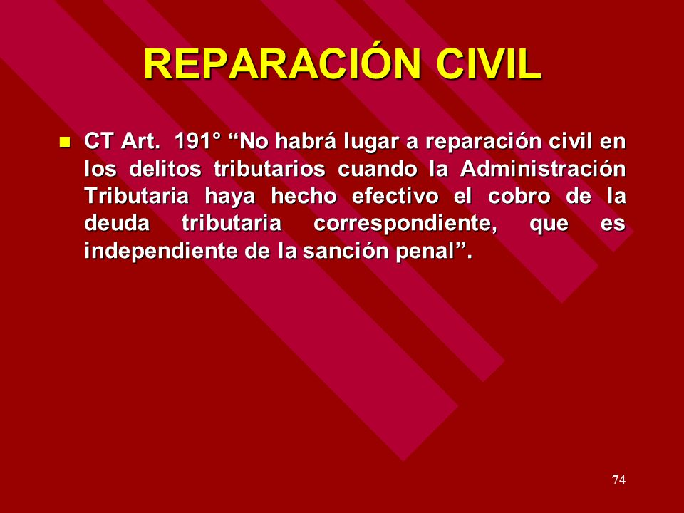 REPARACIÓN CIVIL