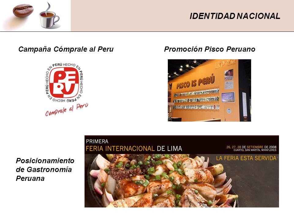 IDENTIDAD NACIONAL Campaña Cómprale al Peru Promoción Pisco Peruano