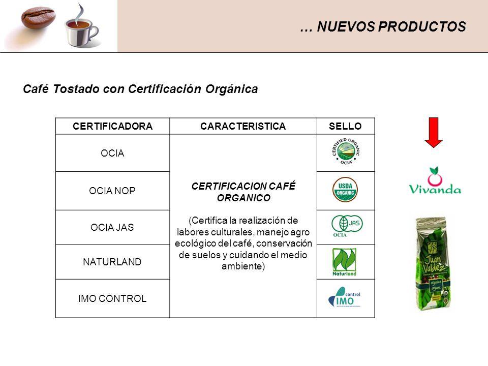 CERTIFICACION CAFÉ ORGANICO