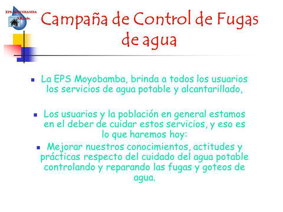 Campaña de Control de Fugas de agua
