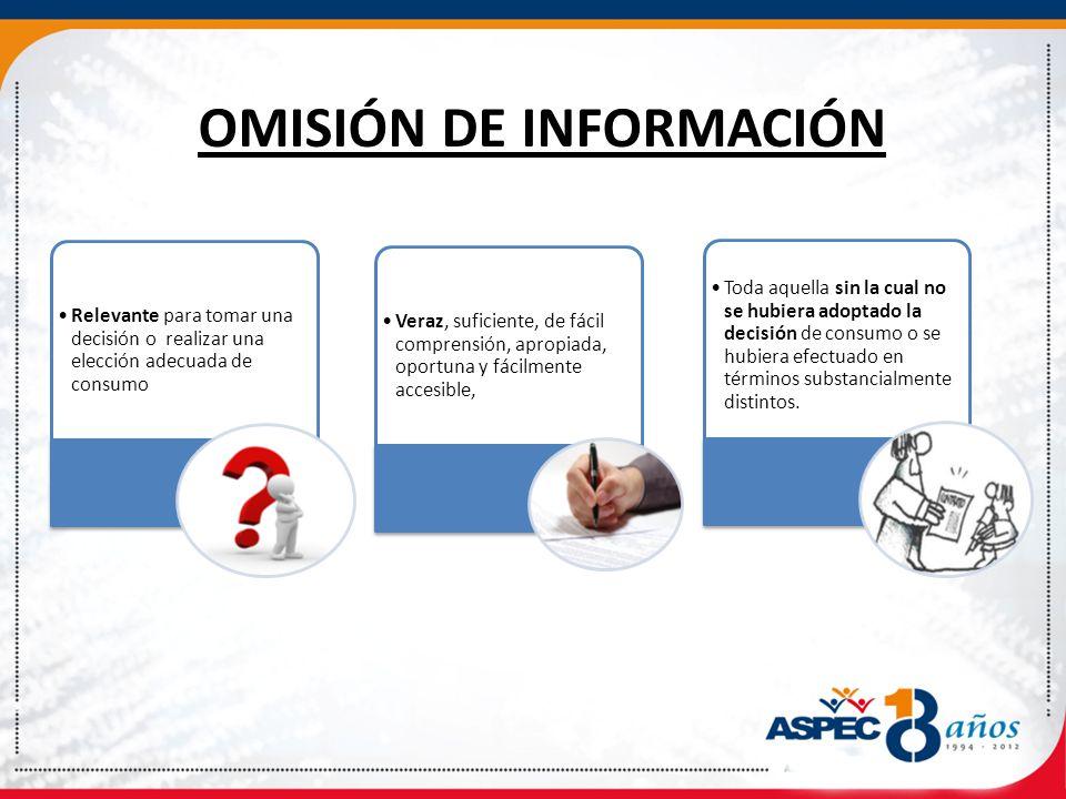 OMISIÓN DE INFORMACIÓN