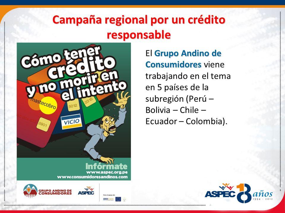 Campaña regional por un crédito responsable