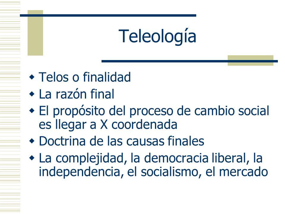 Teleología Telos o finalidad La razón final