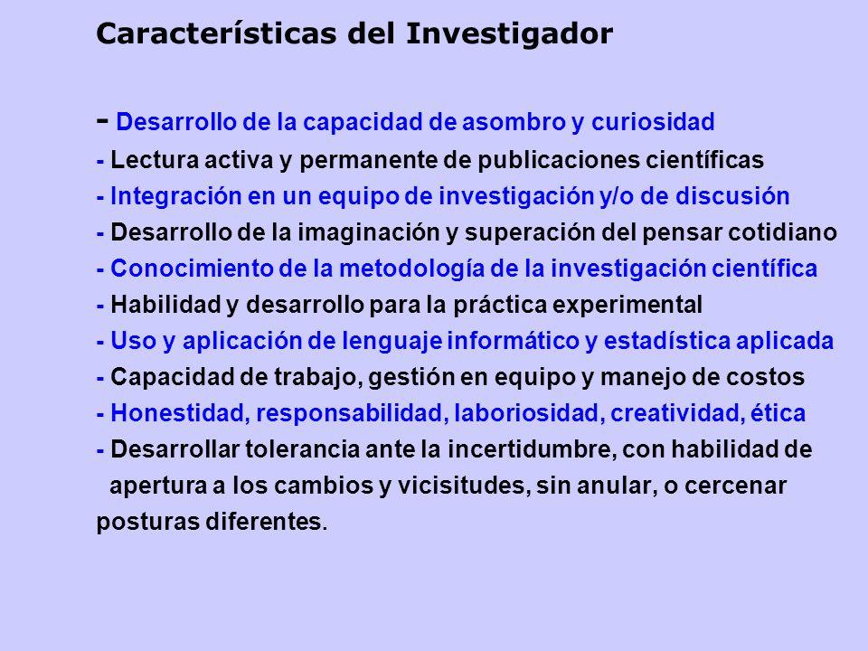 Características del Investigador