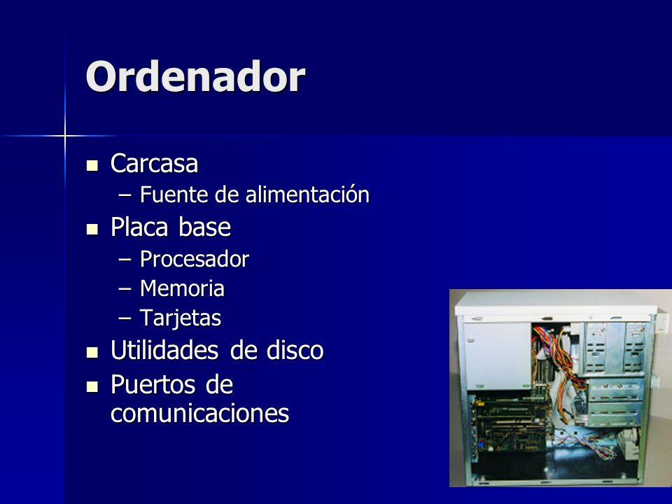 Ordenador Carcasa Placa base Utilidades de disco