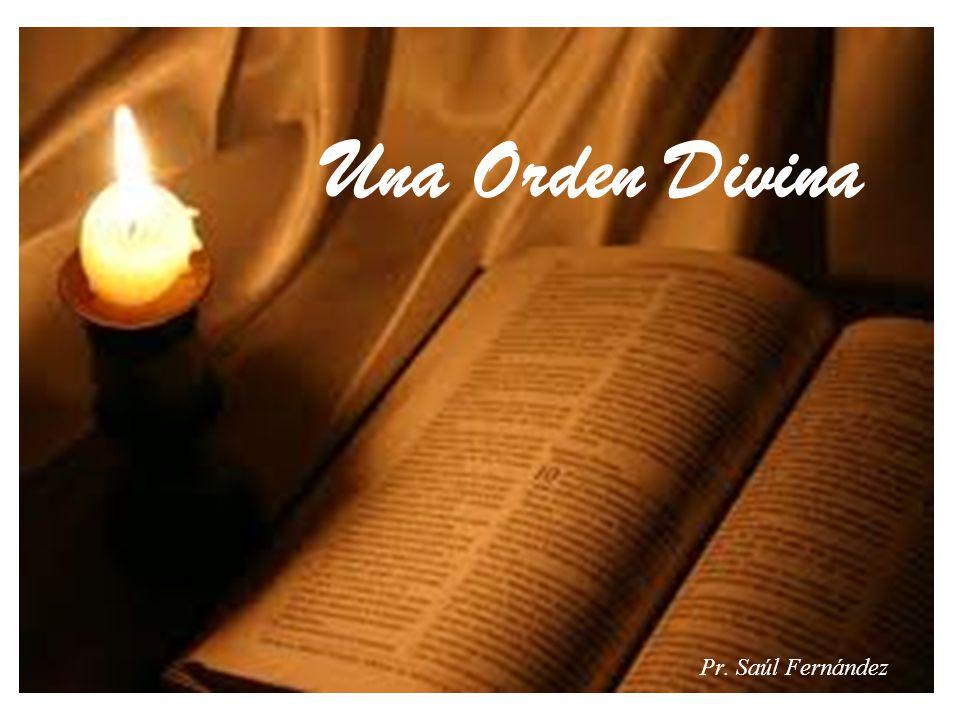 Una Orden Divina Pr. Saúl Fernández