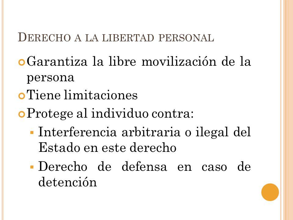 Derecho a la libertad personal