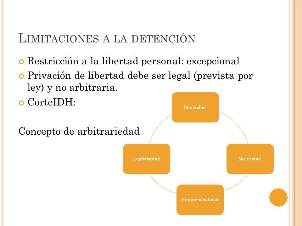 Limitaciones a la detención