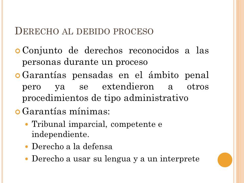 Derecho al debido proceso