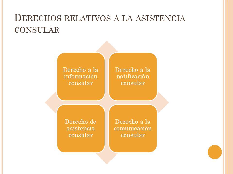 Derechos relativos a la asistencia consular