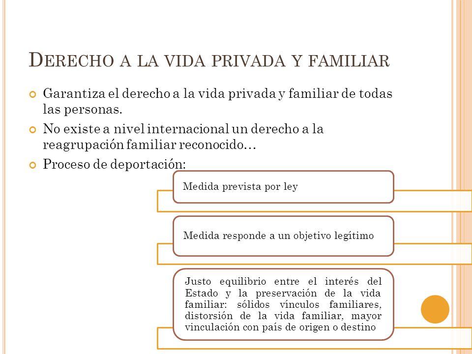 Derecho a la vida privada y familiar
