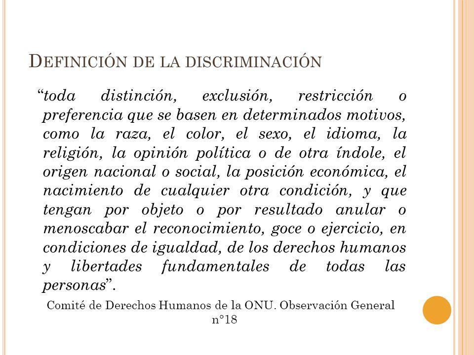 Definición de la discriminación