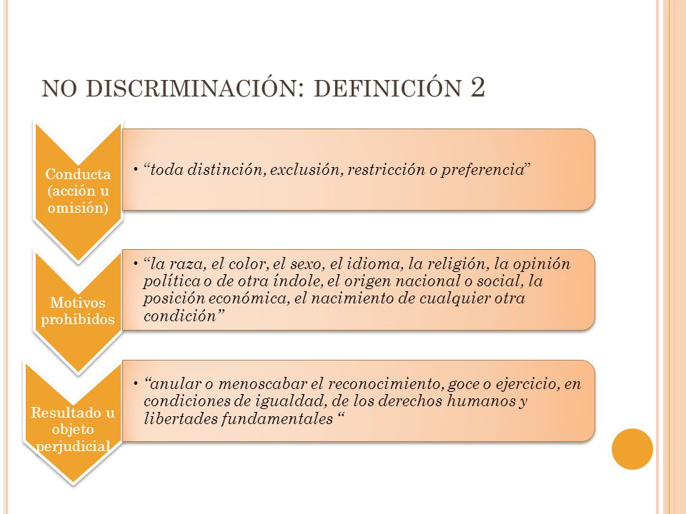 no discriminación: definición 2