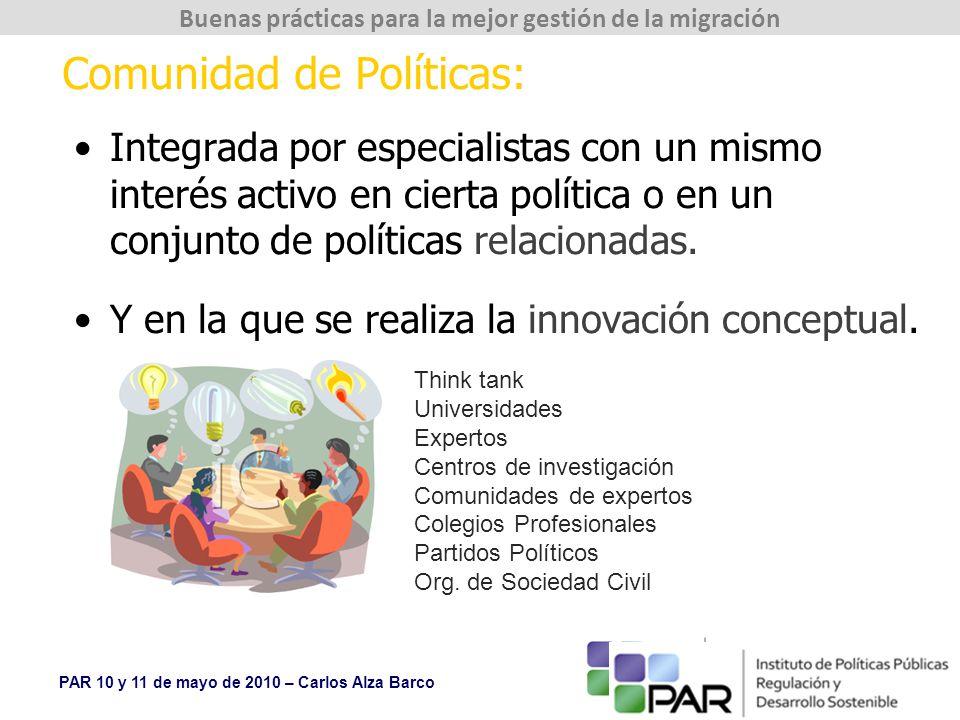 Comunidad de Políticas: