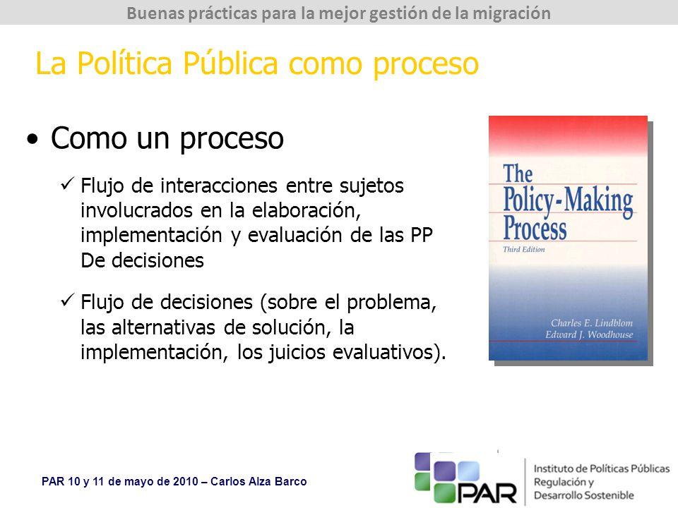 La Política Pública como proceso