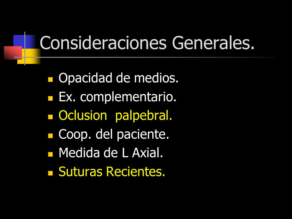 Consideraciones Generales.