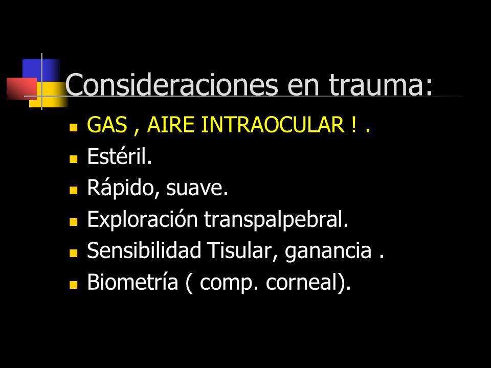 Consideraciones en trauma: