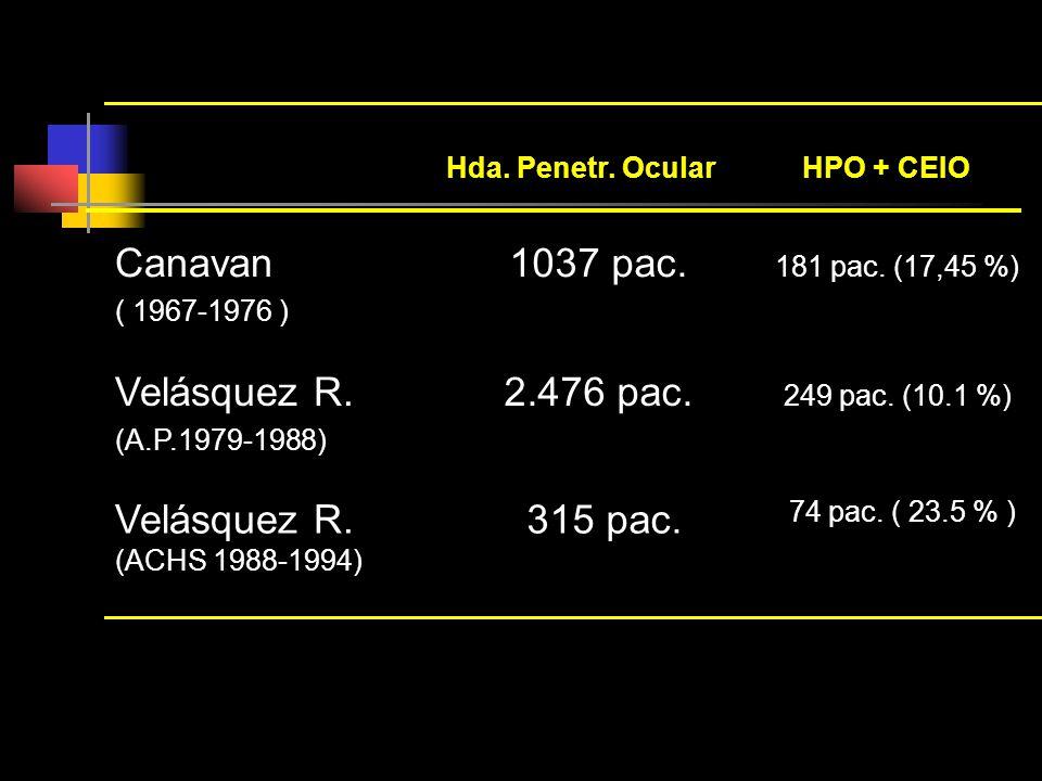 Canavan 1037 pac. 181 pac. (17,45 %) Velásquez R. 2.476 pac.