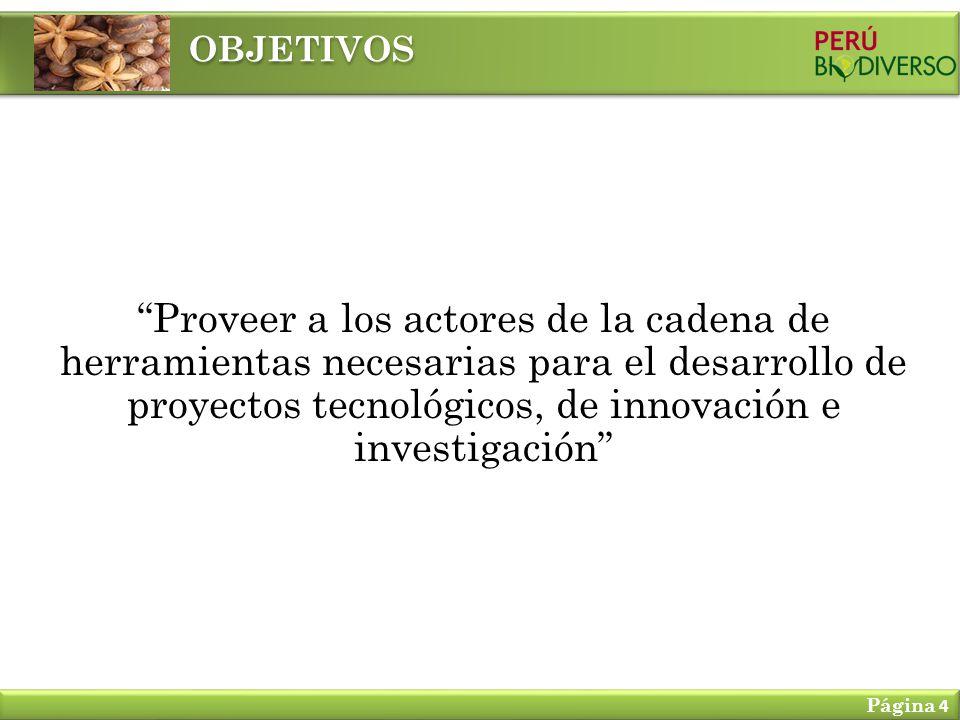 OBJETIVOS Proveer a los actores de la cadena de herramientas necesarias para el desarrollo de proyectos tecnológicos, de innovación e investigación