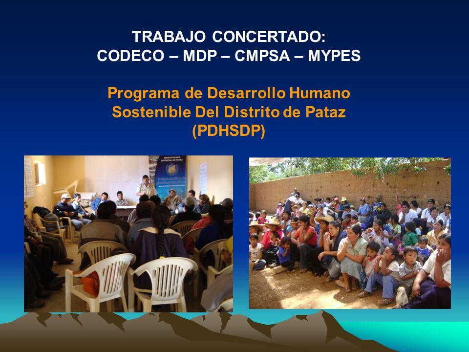 CODECO – MDP – CMPSA – MYPES