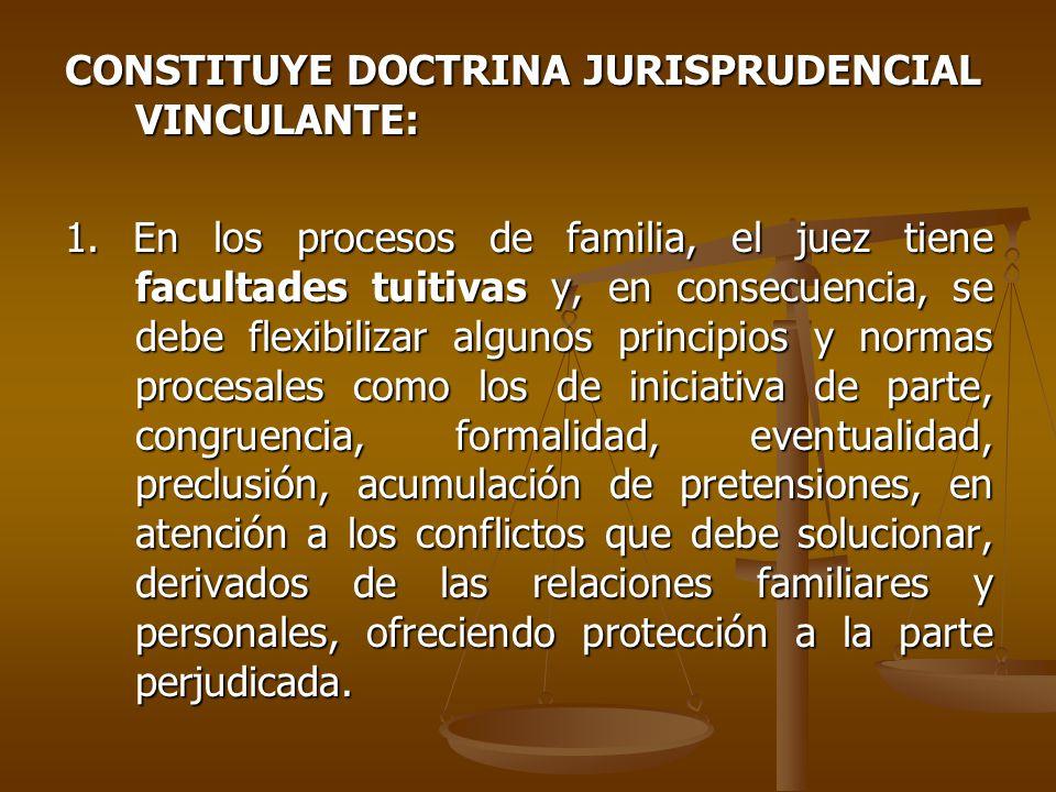 CONSTITUYE DOCTRINA JURISPRUDENCIAL VINCULANTE: