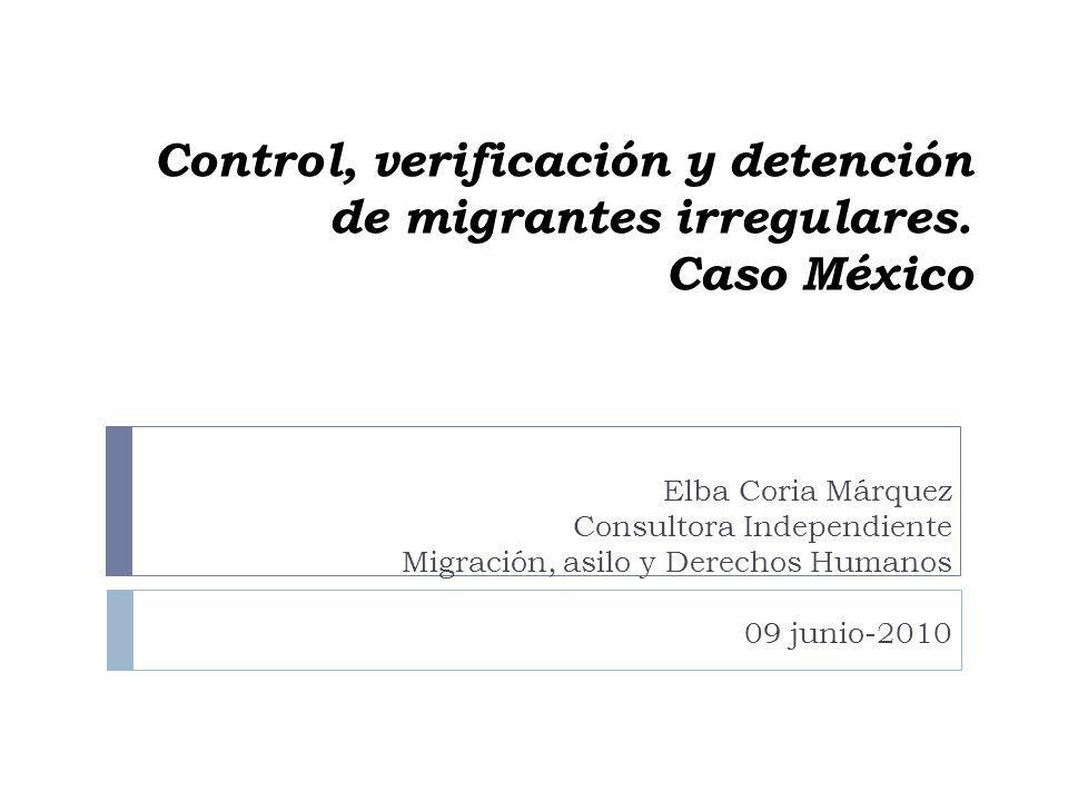 Control, verificación y detención de migrantes irregulares. Caso México