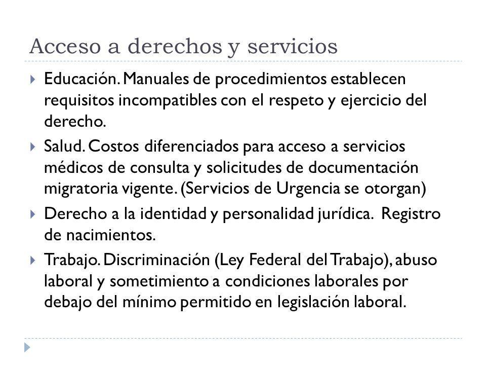 Acceso a derechos y servicios