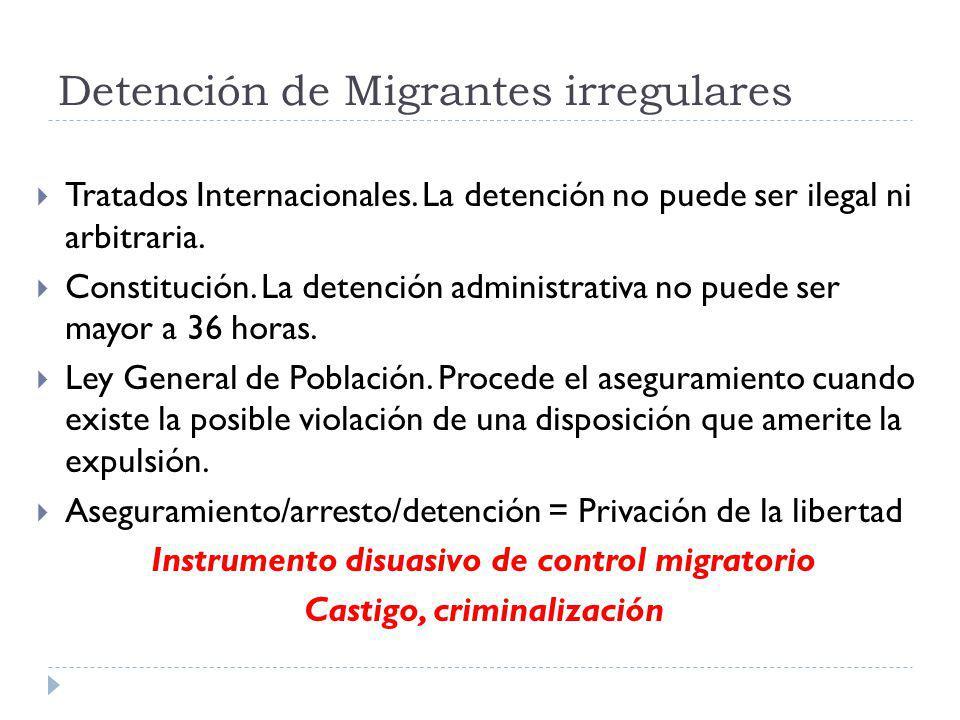 Detención de Migrantes irregulares