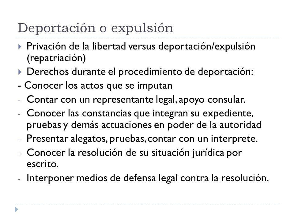 Deportación o expulsión