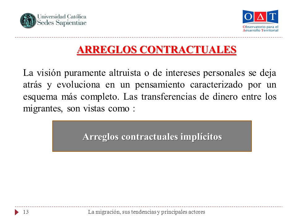Arreglos contractuales implícitos