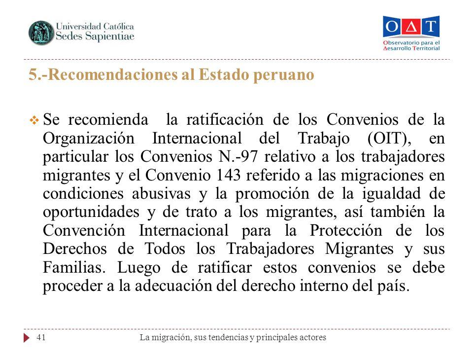 5.-Recomendaciones al Estado peruano