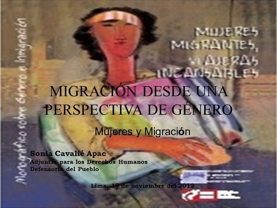 MIGRACIÓN DESDE UNA PERSPECTIVA DE GÉNERO