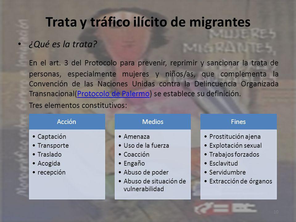 Trata y tráfico ilícito de migrantes