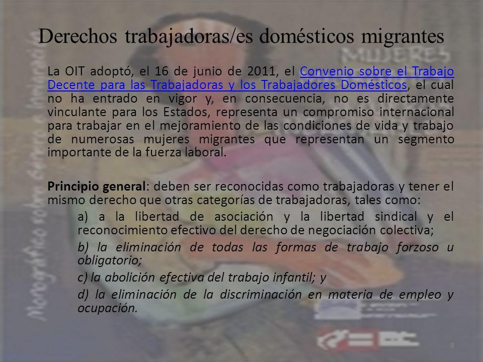 Derechos trabajadoras/es domésticos migrantes