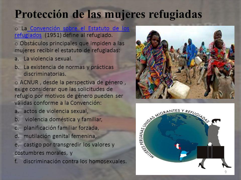 Protección de las mujeres refugiadas