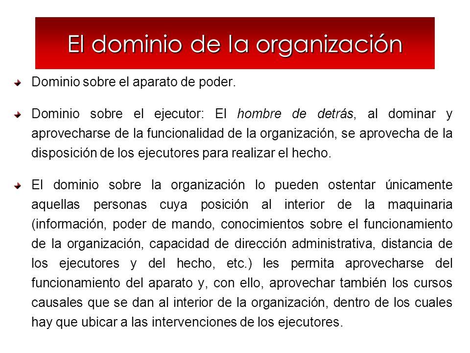 El dominio de la organización