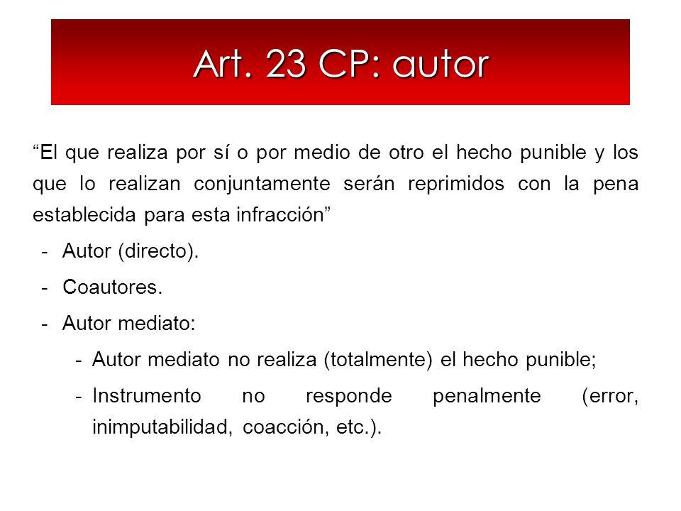 Art. 23 CP: autor