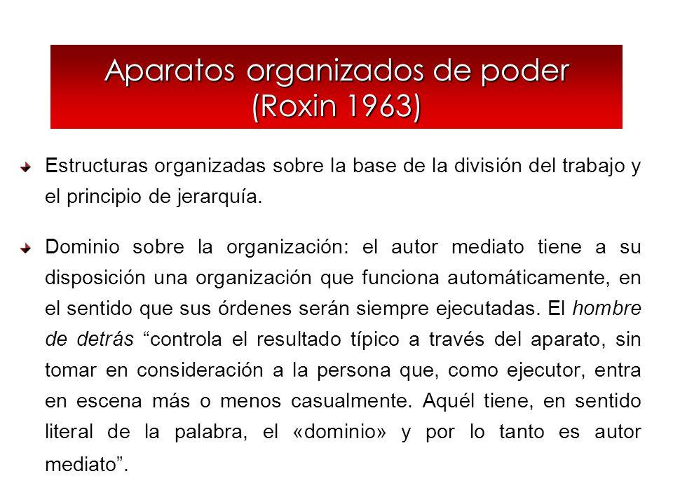 Aparatos organizados de poder (Roxin 1963)