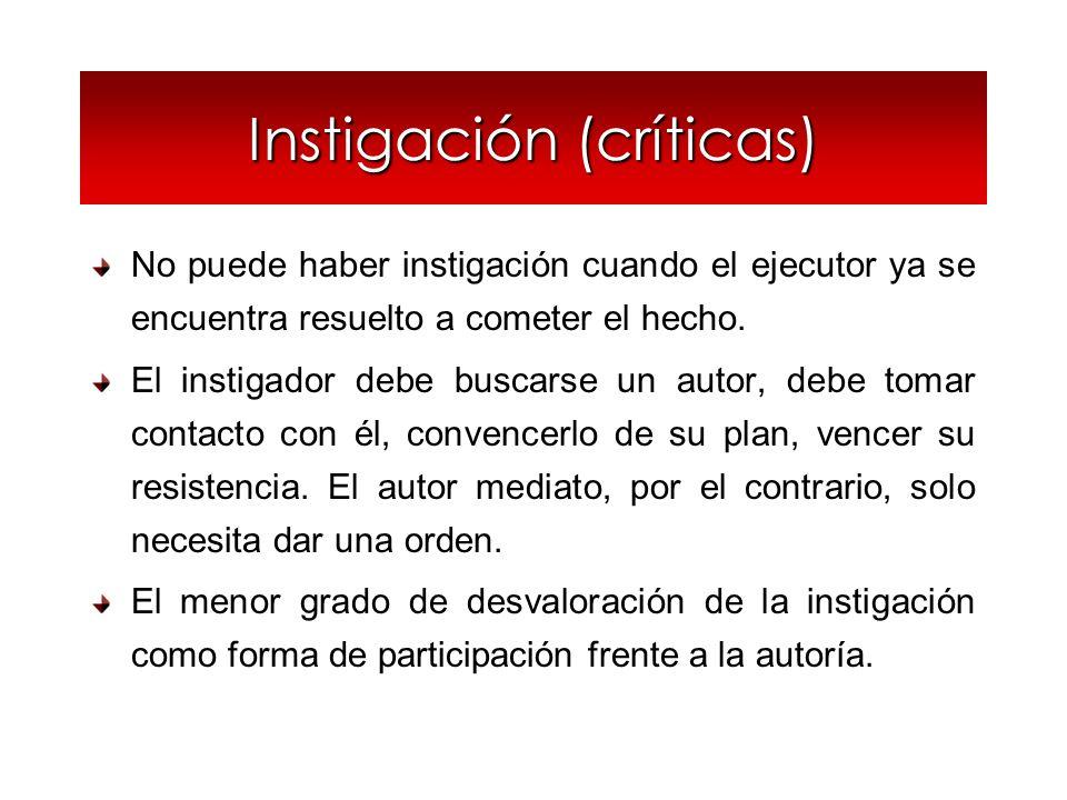 Instigación (críticas)