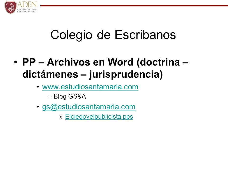 Colegio de Escribanos PP – Archivos en Word (doctrina – dictámenes – jurisprudencia) www.estudiosantamaria.com.