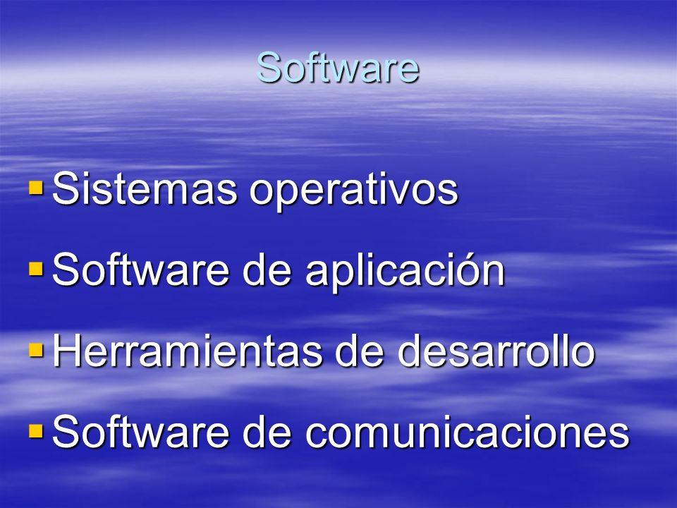 Software de aplicación Herramientas de desarrollo