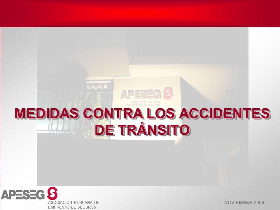MEDIDAS CONTRA LOS ACCIDENTES DE TRÁNSITO