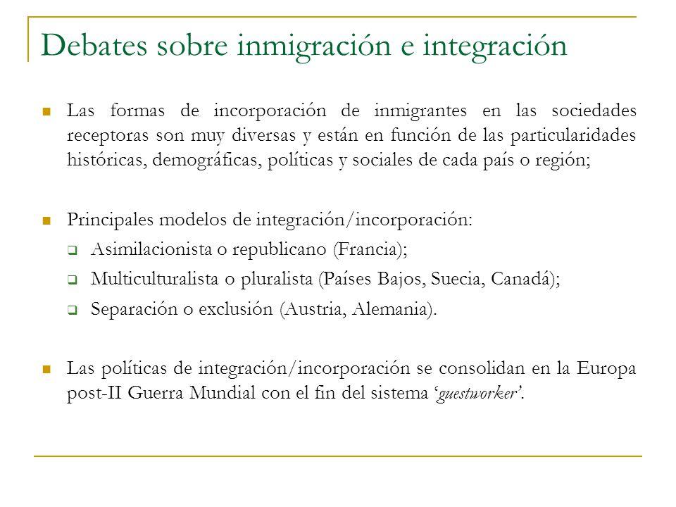 Debates sobre inmigración e integración