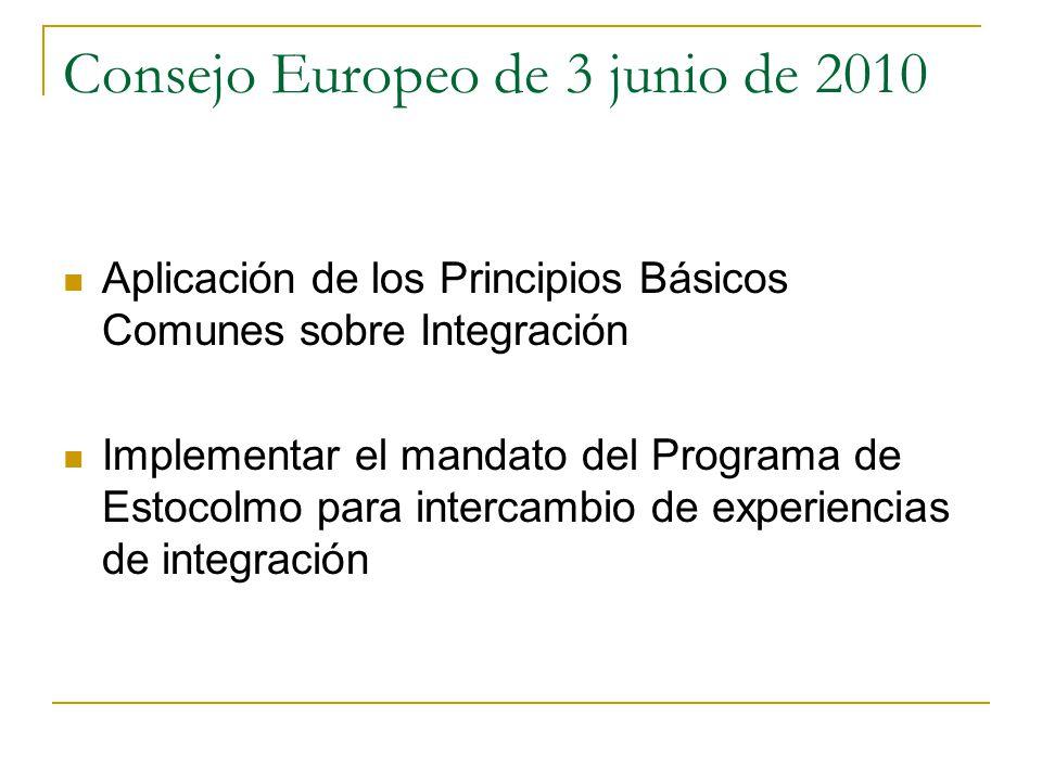 Consejo Europeo de 3 junio de 2010