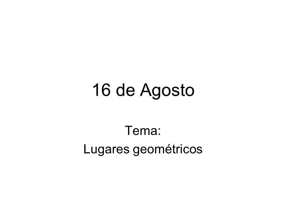 Tema: Lugares geométricos