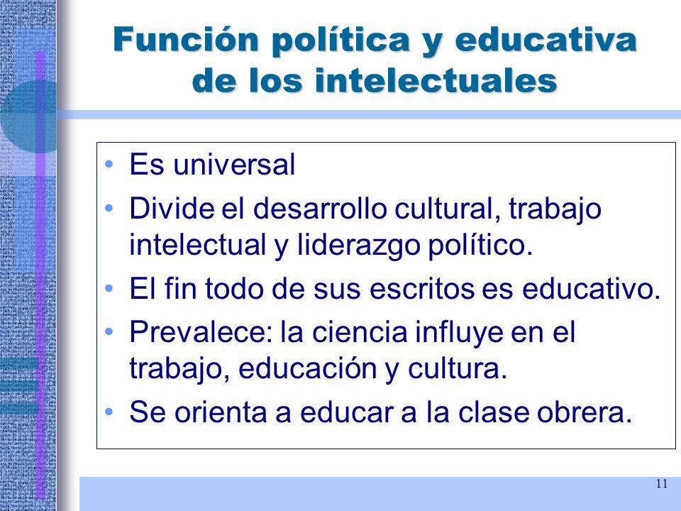 Función política y educativa de los intelectuales