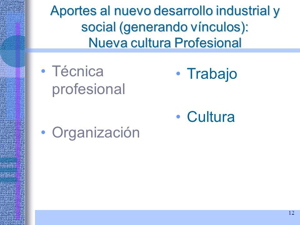Técnica profesional Trabajo Cultura Organización
