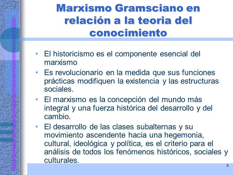 Marxismo Gramsciano en relación a la teoria del conocimiento